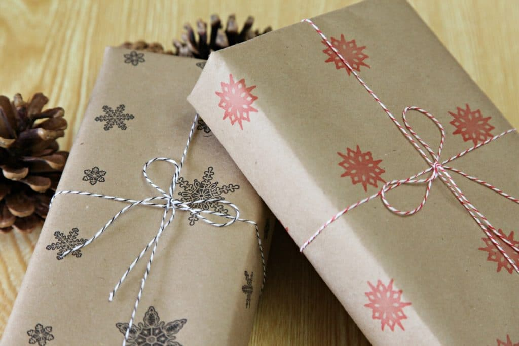 Craft nights river tree arts for Christmas craft wrapping paper